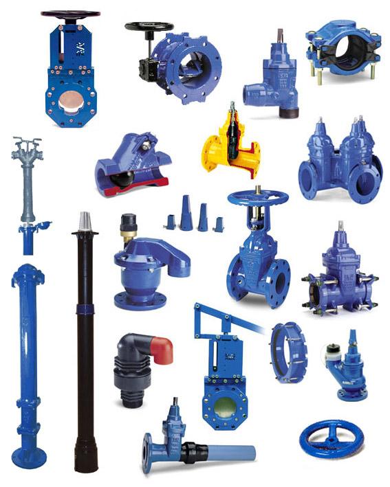 Продукция AVK (задвижки, арматура и фитинги для систем водоснабжения и канализации, пожаротушения и газа)